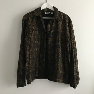 Chico's Silk Embellish Embroidery Egypt Jacket